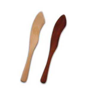 High quality custom natural mini small bamboo wooden dinner spreader butter knife