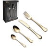 Coloured metal silverware stainless steel gift flatware knife fork and spoon set wedding colorful plated cutlery