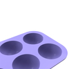 Purple 6 cavity round half ball shape silicone mould chocolate mold for chocolate and fondand