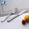 High quality silver cutlery set for hotel, 18/10 stainless steel flatware