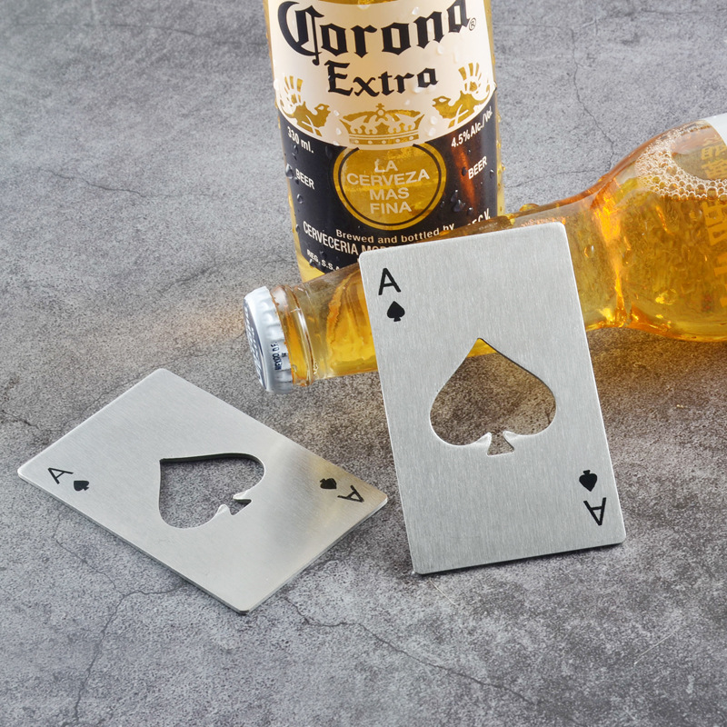 Custom personalized metal gifts stainless steel beer business credit ace sized card bottle opener
