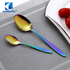 Eco-friendly stainless steel colorful flatware, PVD dinnerware wedding