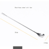 Custom metal stir twisted stainless steel stirrer bar bartender cocktail stirring long handle mixing spoon for barware