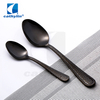 Cathylin 4-Pieces Matte Black Color 18/10 Stainless Steel Hollow Handle Cutlery Sets, Flatware