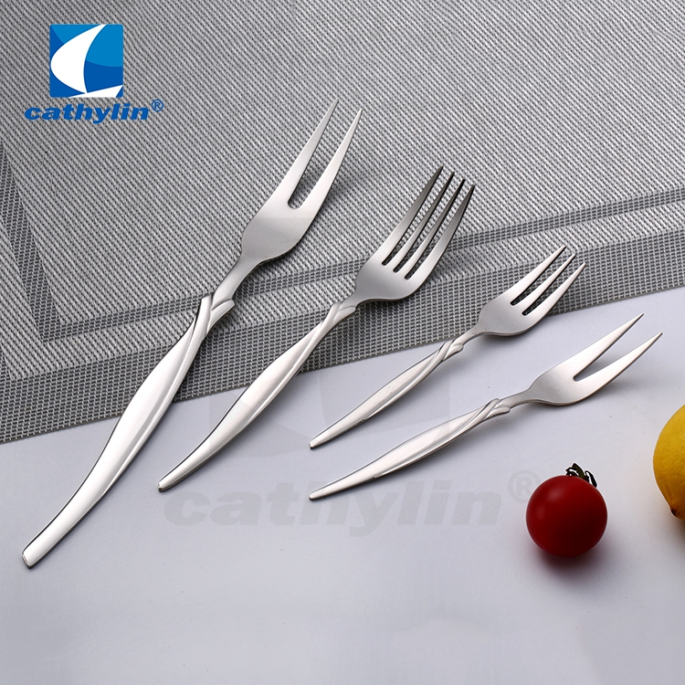 Food grade stainless steel silver flatware set, hotel cutlery set