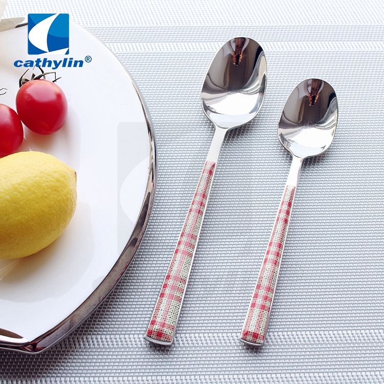 Cathylin plastic handle stainless steel cutlery sets, home goods flatware